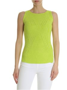 Ermanno Scervino - Lime green top with rhinestones