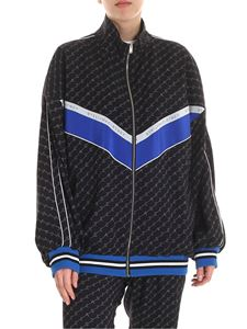 Stella McCartney - Blue silk bomber jacket with logo