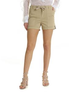Ermanno Scervino - Beige shorts with trimmings bands