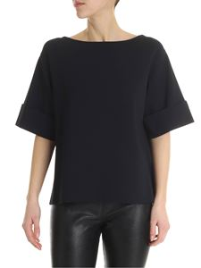 Stella McCartney - Blue boxy top with turn-up on the sleeves