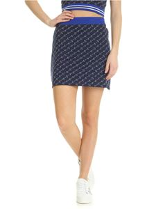 Stella McCartney - Short blue jacquard skirt