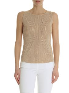 Ermanno Scervino - Beige top with iridescent rhinestones