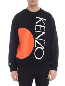 Kenzo - Black sweatshirt with red bubble and logo