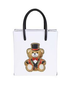 Moschino - Mini white Teddy Circus handbag