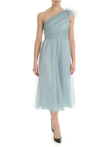 Red Valentino - Light-blue dress in pleated point d'esprit tulle
