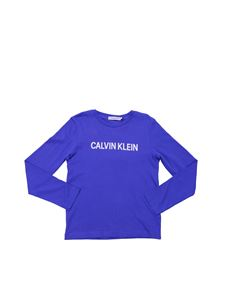 Calvin Klein - Calvin Klein long sleeve T-shirt in electric blue