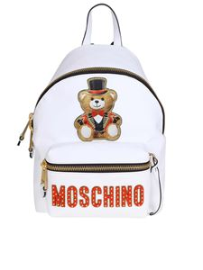 Moschino - Small white Teddy backpack