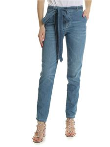 Ermanno Scervino - Light-blue jeans with ribbon on the waist