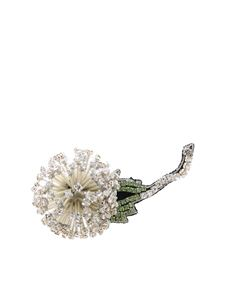 Rochas - Rochas flower brooch with rhinestones