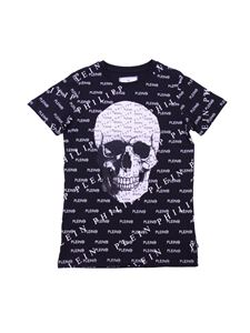 Philippe Plein Junior - PP Skull T-shirt with all-over logo
