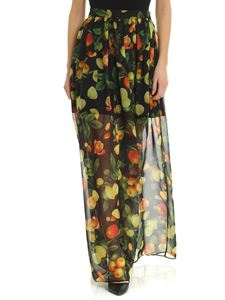 MSGM - MSGM skirt in black with citrus print