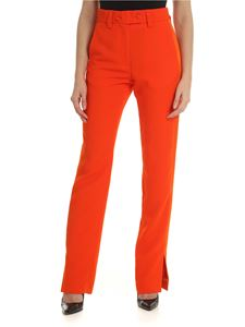 MSGM - Orange trousers with satin edges