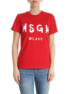 MSGM - MSGM t-shirt in red with logo print