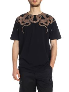 Marcelo Burlon - Snakes t-shirt in black and brown