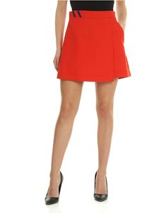 Pinko - Romantico skirt in red coral