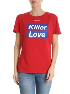 Pinko - Spontaneo Killer Love T-shirt in red