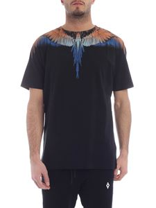 Marcelo Burlon - Wings t-shirt in orange, blue and light blue