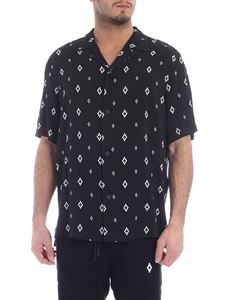 Marcelo Burlon - Cross black viscose shirt