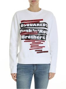 Dsquared2 - White crew-neck sweatshirt with DSQUARED2 print