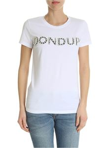 Dondup - White crew-neck t-shirt with embroidered Dondup logo