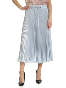 Red Valentino - Light blue pleated skirt with shiny effect