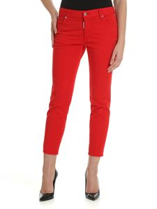 Dsquared2 - Red jeans with rear black metal logo