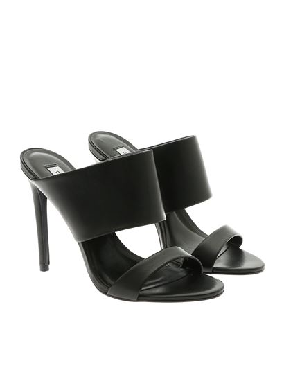 abd130095f3 Steve Madden Spring Summer 2019 mallory sandals in black leather ...