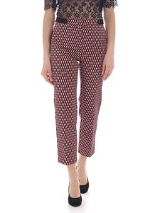 Pinko - Dedito pants in red, blue and beige
