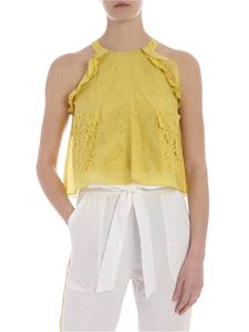 Pinko - Delicato top in lime yellow