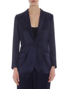 Tory Burch - Single button blue jacket