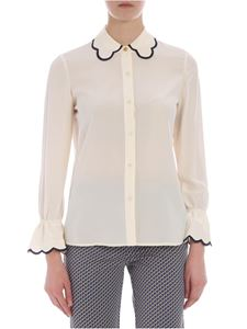 Tory Burch - Ivory shirt with blue edged