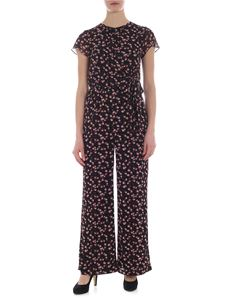 Michael Kors Collection - Black palazzo jumpsuit with floral print