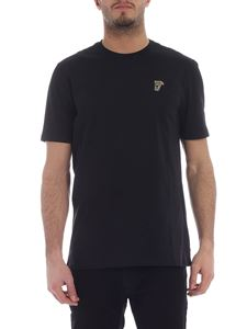 Versace - Black crew-neck t-shirt with Medusa