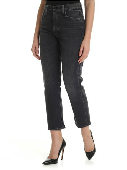 43ef414b32fa97 Mother Spring Summer 2019 the tomcat jeans in black - 1364-515