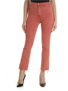 MOTHER - Bootcut jeans in delavé red
