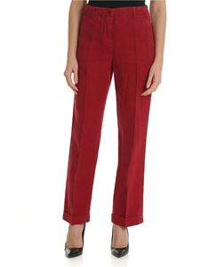 Aspesi - Red trousers with turned-up bottom