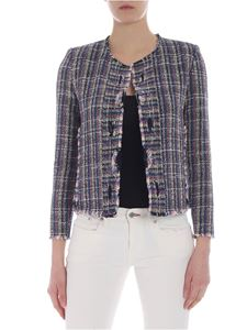 Iro - Frannie jacket in blue white and pink