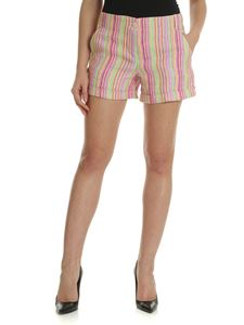 Aspesi - Multicolor striped linen shorts