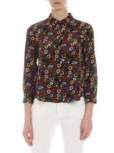 Aspesi - Red shirt with multicolor print