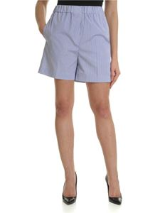 Aspesi - White and blue striped shorts