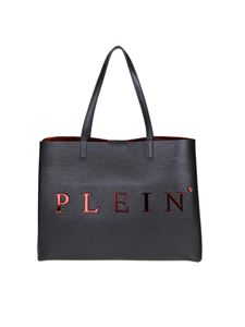 Philipp Plein - Black shopping bag with logo