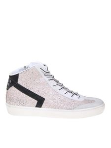 Leather Crown - Sneakers SKT glitterate rosa