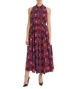 Aspesi - Red dress in geometric print
