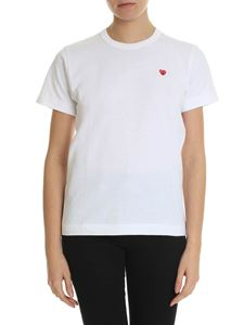 Comme des Garçons Play  - White t-shirt with red heart