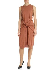 See by Chloé - Knitted dress in copper red with knot