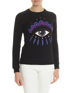 Kenzo - Black embroidered Eye Classic sweatshirt