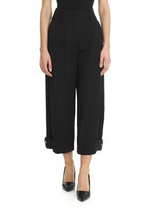 See by Chloé - Wide black trousers with buttons on the bottom