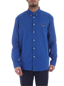 Kenzo - Tiger Crest shirt in blue cotton