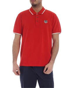 Kenzo - K Fit Tiger red polo