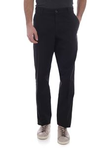 Kenzo - Black chino trousers with green stitching